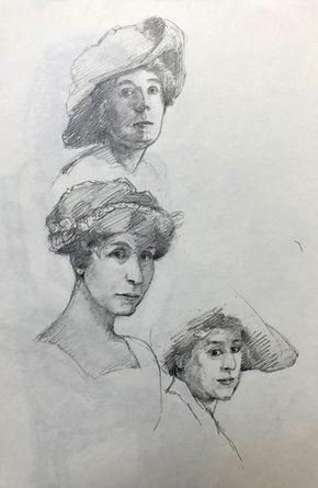 jory glazener-sketch drawing-portrait-women