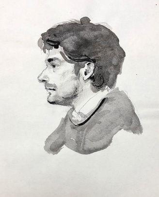 jory glazener-ink drawing-portrait-man