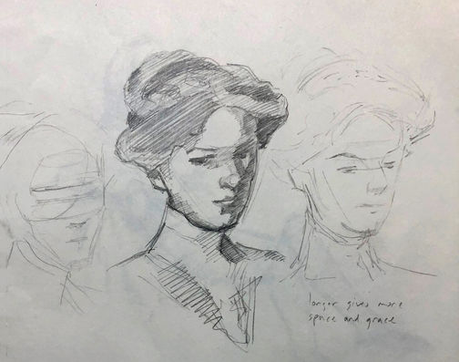jory glazener-sketch drawing-portrait-sargent