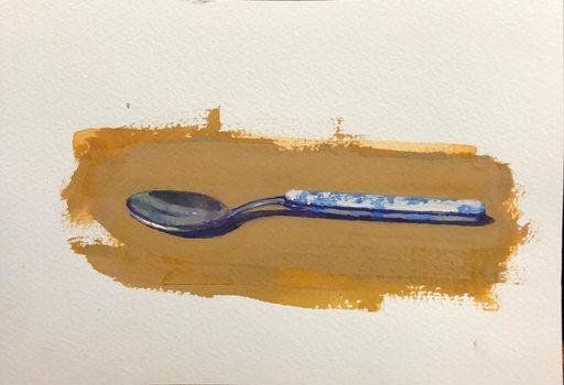 Blue Floral Spoon