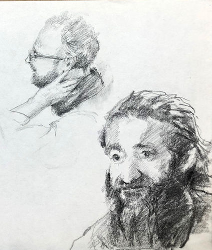 jory glazener-sketch drawing-portrait-2 men