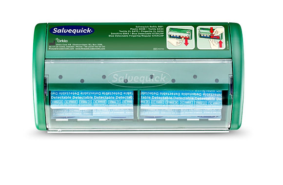 Distributeur automatique de pansements Salvequick Bleus détectables