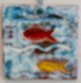 handmade ceramic fish  tile