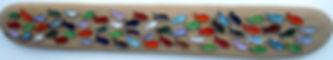 handmade ceramic fish decorative panel