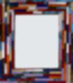handmade multicolor ceramic frame