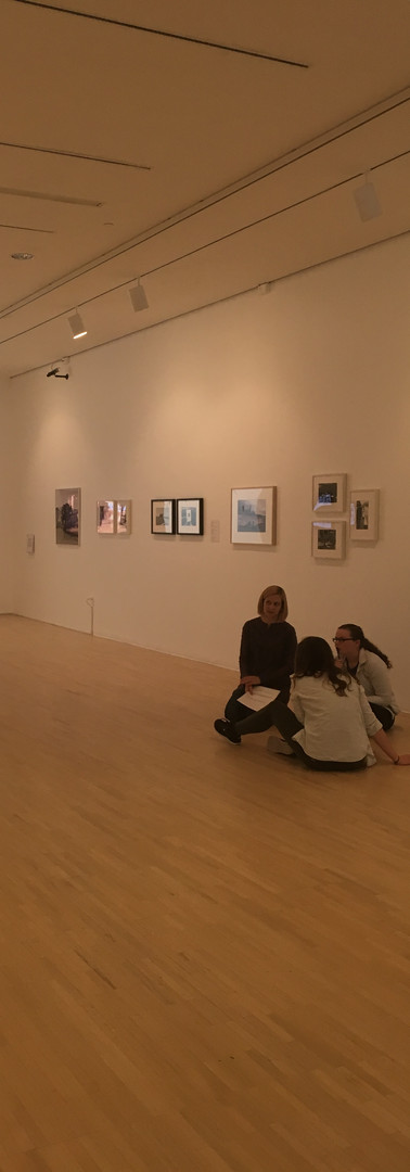 Working with dramaturgy students at the UB Art Gallery, Center for the Arts