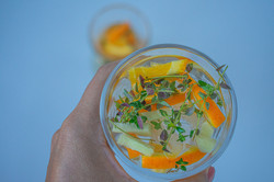 Orange, Thyme & Ginger Infused Water