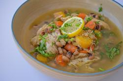 Mexican Black Eye Bean Chicken Soup