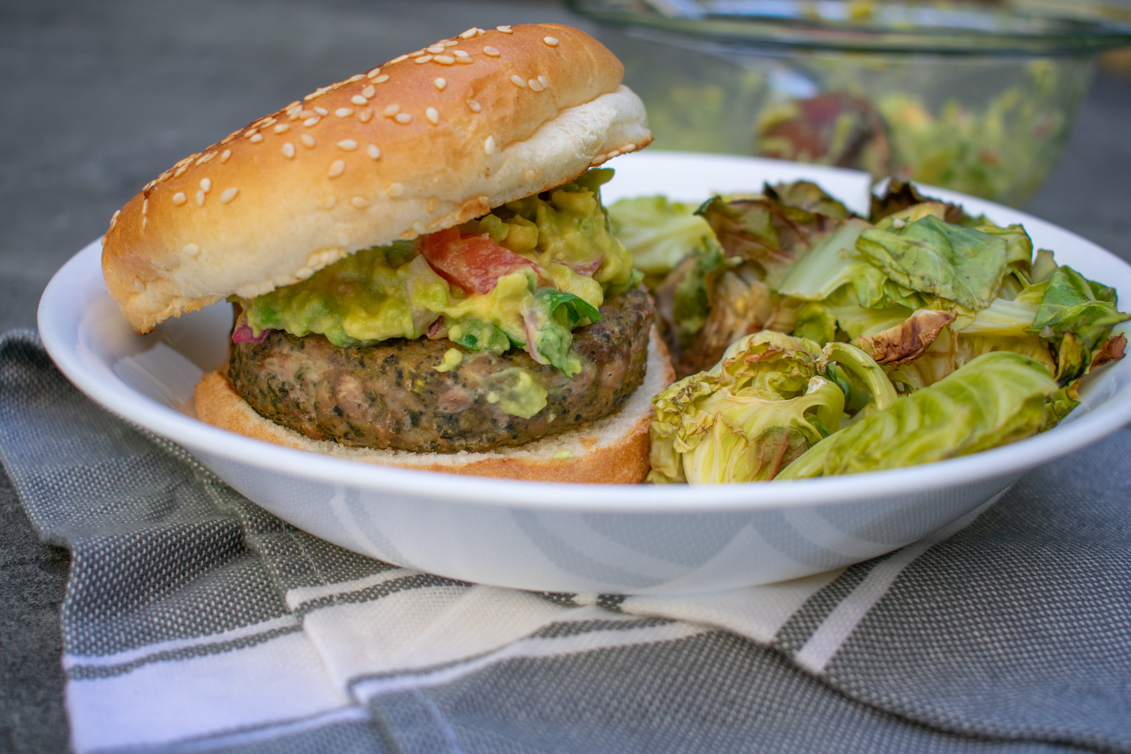 Spinach & Kale Patty Burger