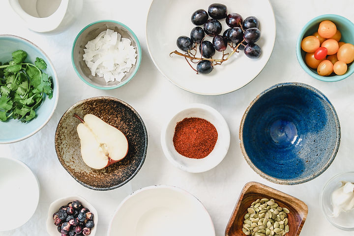 Coaching, nourriture saine, nutrition