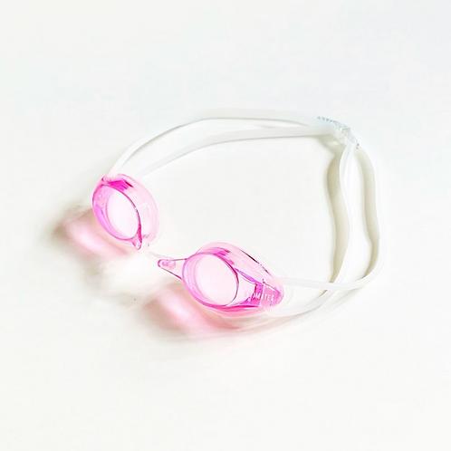 粉紅色平光泳鏡|Pink flat goggle