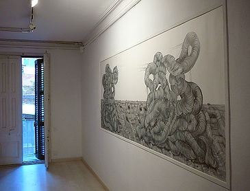 Installation view, Two into one undone at the Galeria Fidel Balaguer, Barcelona,  Spain, 2013