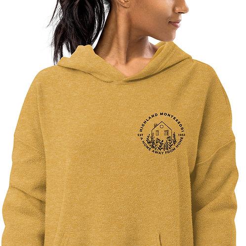 Unisex Sueded Fleece Hoodie (Black Logo)
