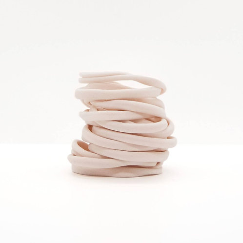 Recycled Nylon Elastics 20pc Set - Blush