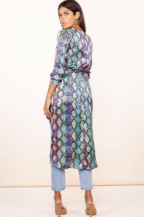 Yondal Wrap Dress - Multi Snake