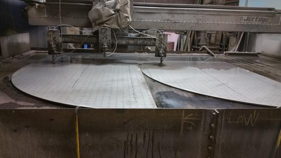 Abrasive waterjet cutting stainless stee