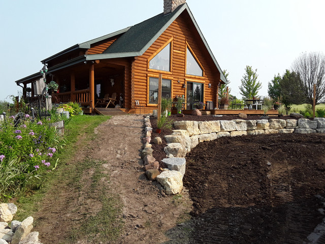 Recent Retaining Wall Installation-After