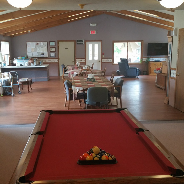 The Heartwarming House Pool Table and Community Room