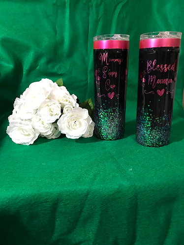 Blessed Mama tumblers