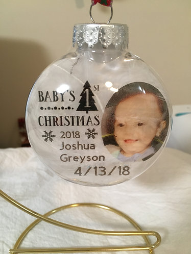 Baby's First Christmas floating ornament