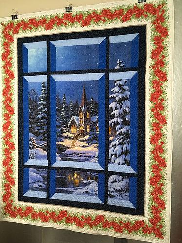 Christmas lap quilt