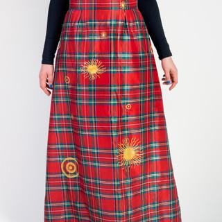 Gonna di seta dipinta a mano / hand painted silk skirt