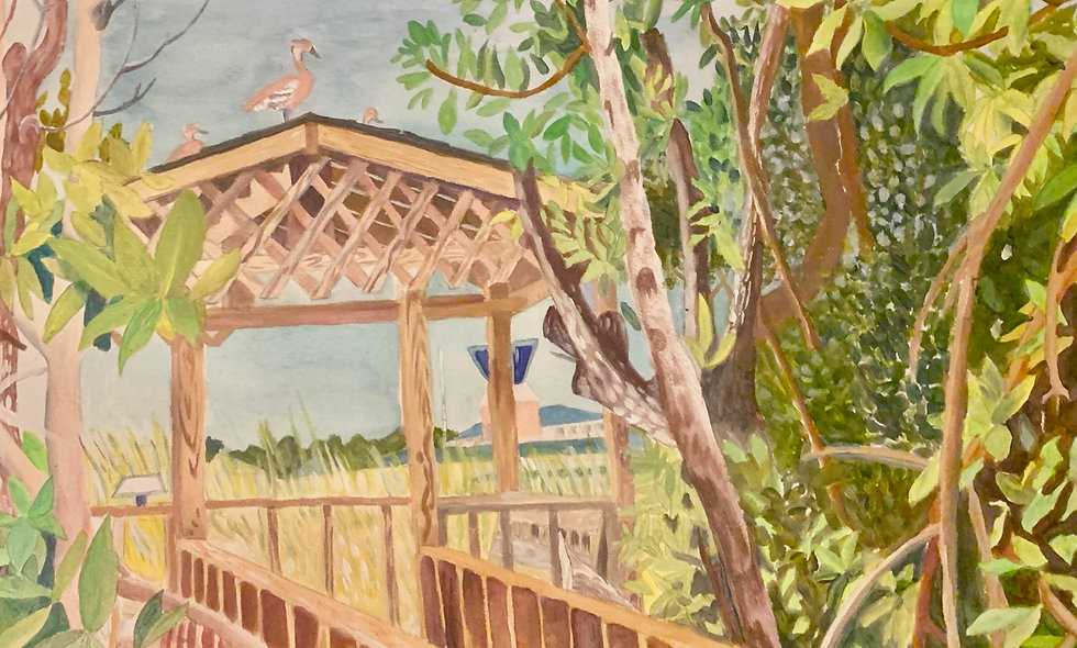 Westerly Pond Cabana *Original available inquire for Price