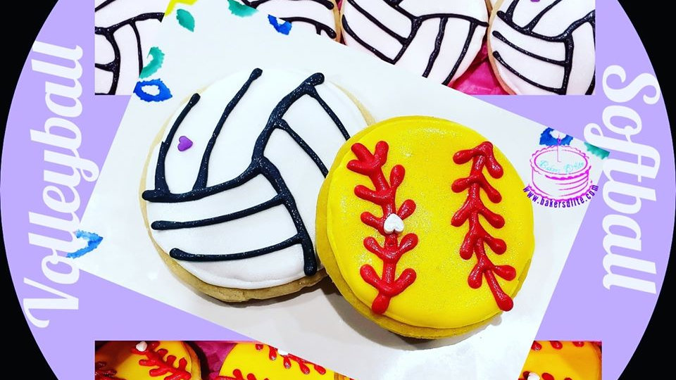 Sports Themed Iced Cookies (6 ct)