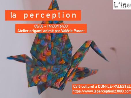 atelier d'origami le 5/08
