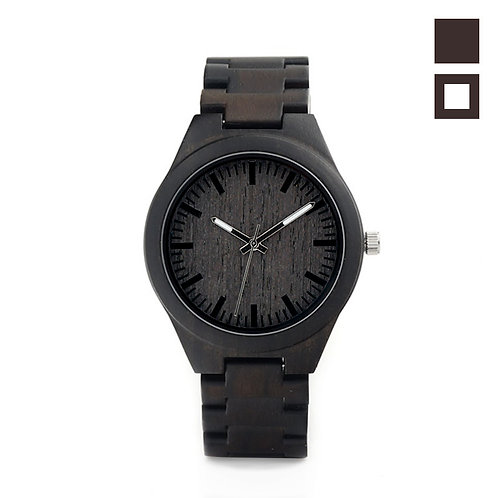 Часы Woodee Dark Ebony с деревянным браслетом