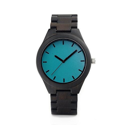Часы Woodee Noble Azure с деревянным браслетом