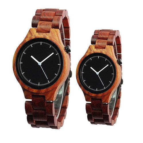 Часы Woodee Red Sandal с деревянным браслетом