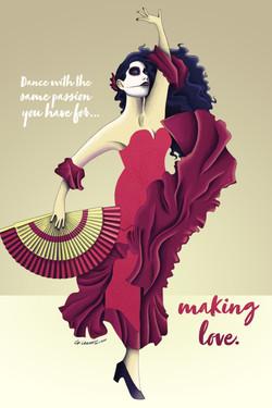 Passionate Flamenco Dancer