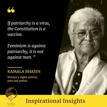 Kamala Bhasin; a proud Feminist