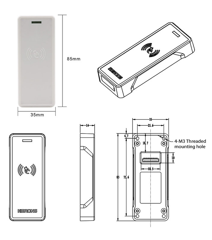 RFID locker lock sizes