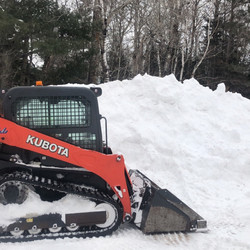 Big Lake removing snow banks from Winter 2019