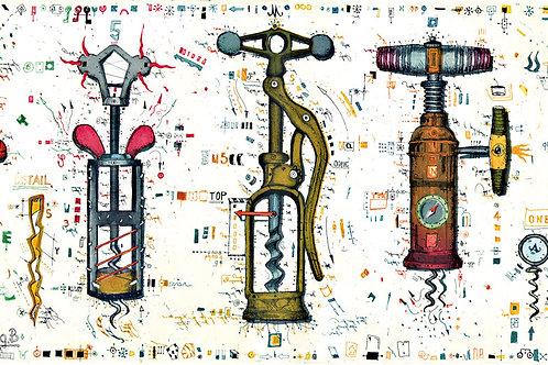Farbradierung - Schlüssel zum Weinparadies - Leslie G. Hunt