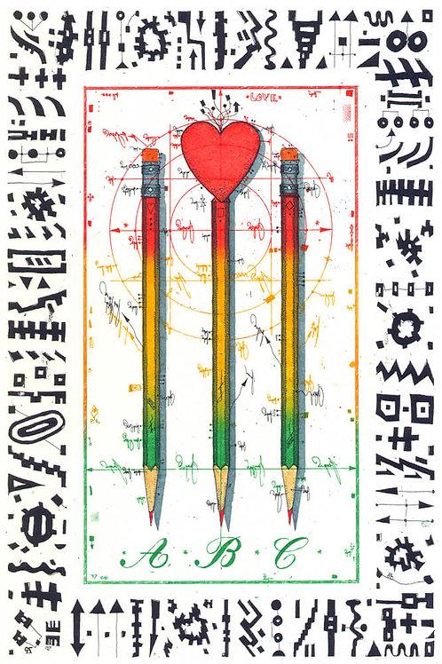 Herz, Bleistift, liebesbriefzeichner, Leslie G. Hunt
