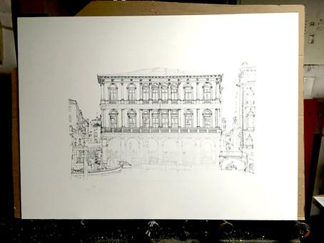 Neue Gouache – Palazzo Dolfin Manin