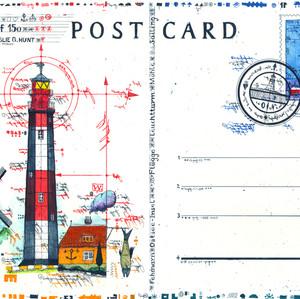 Ppstcard Leuchtturm