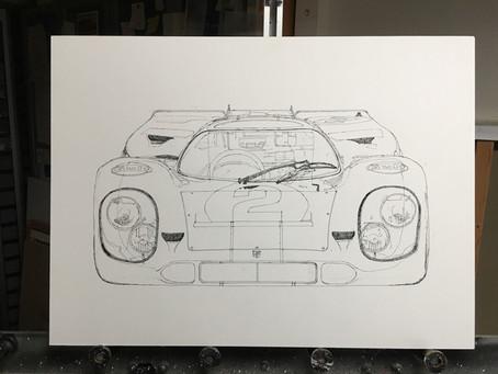 Neue Gouache – GULF Porsche 917