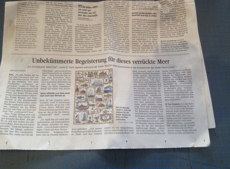 Artikel heute in den Kieler Nachrichten Edition LebensArt Kiel