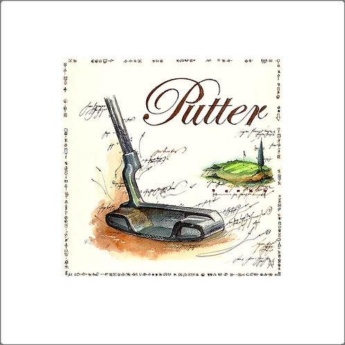 fine art print, golfschlaeger, putter, leslieghunt