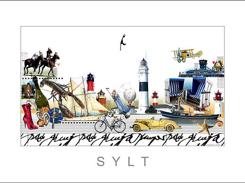 City Print, Stadtansicht, Sylt, Leslie G. Hunt