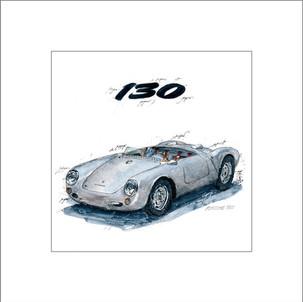 Auto Kunst Porsche 550