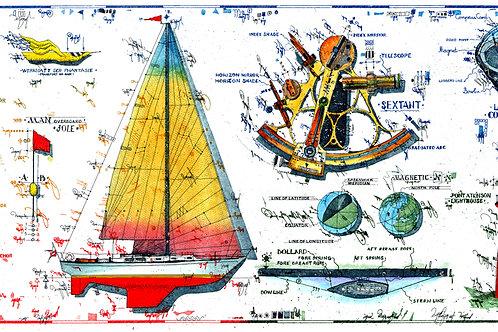 Farbradierung - Segelschiff - The Pleasures of Cruising - Leslie G. Hunt