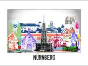 Stadtansicht Cityprint Nürnberg-pop
