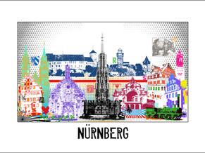Stadtansicht-City Print-Nuernberg-pop