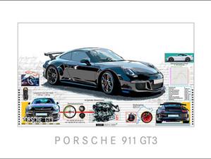 Auto Kunst-Car Art-Porsche 911 GT3