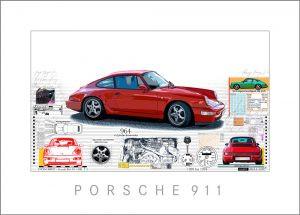 Neuer Giclée Print – PORSCHE 964
